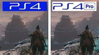 Sekiro | PS4 vs PS4 Pro | 4K Graphics & Framerate Comparison