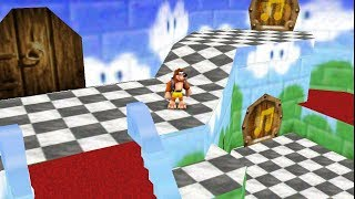 Banjo-Kazooie in Super Mario 64 (Real N64 Capture)