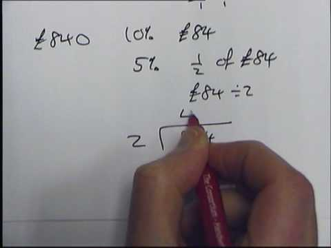 how to determine percentage