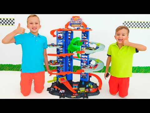 Vlad and Niki pretend play Ultimate Garage | Hot Wheels City