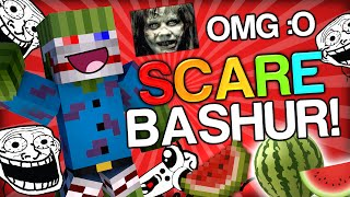 SCARING BASHURVERSE THE WATERMELON - Minecraft Trolling Youtubers with Minecraft Mods (Scare Prank)
