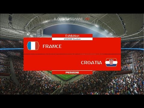 FRANCE vs CROATIA I Final FIFA World Cup 2018 I PES 2018 Gameplay