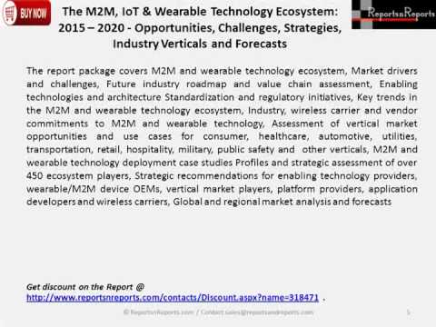 The M2M, IoT & Wearable Technology Ecosystem 2015 – 2020