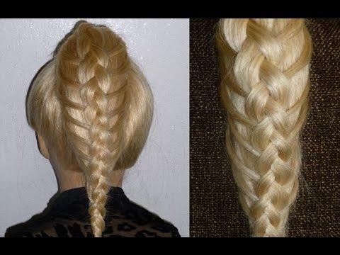 Holländischer Zopf Frisur.Flechtfrisur.Ausgehfrisur.Dutch Braid/High Bun Hairstyles.Peinados