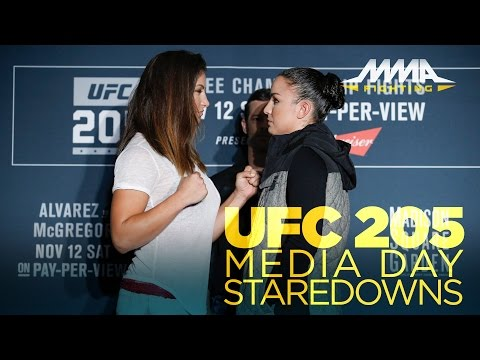 UFC 205 Media Day Staredowns