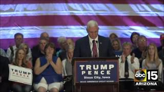 Sioux City (IA) United States  City pictures : FULL SPEECH: Gov. Mike Pence in Sioux City, Iowa - Donald Trump for President