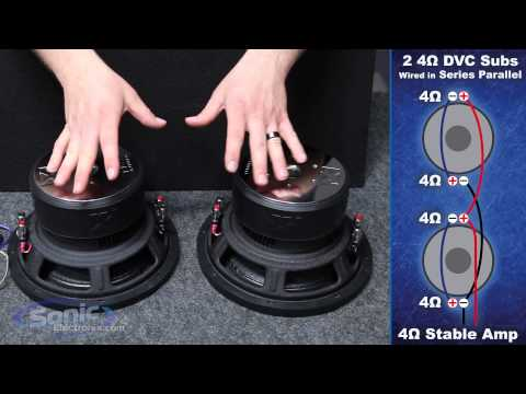 4 ohm - Learn how to wire two dual 4 ohm car subwoofers to a 4 ohm final impedance using the series parallel wiring method. The most common question we are asked her...