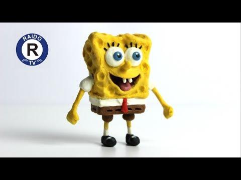 КАК СЛЕПИТЬ СПАНЧ БОБA ИЗ ПЛАСТИЛИНА? ГУБКА БОБ КВАДРАТНЫЕ ШТАНЫ. Sponge Bob.