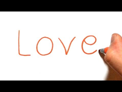 How to Turn Words Love into a Cartoon #23