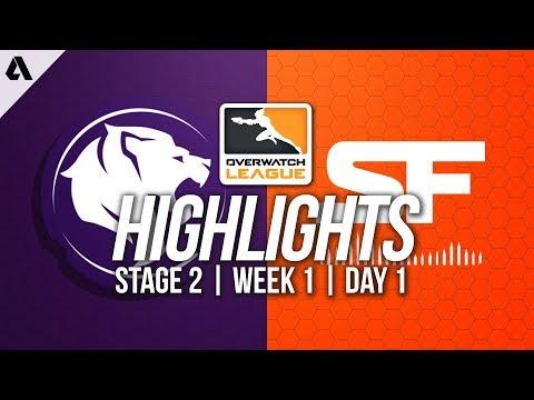 Los Angeles Gladiators vs San Francisco Shock | Overwatch League Highlights OWL Stage 2 Week 1 Day 1 (видео)