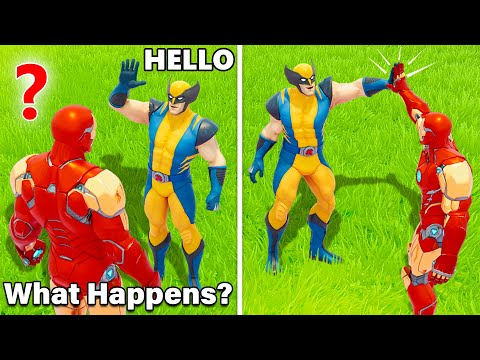 What Happens if Boss Wolverine Meets Boss Iron Man in Fortnite