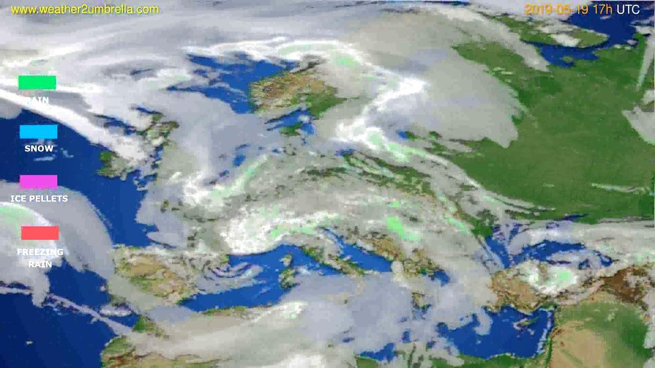 Precipitation forecast Europe // modelrun: 00h UTC 2019-05-18