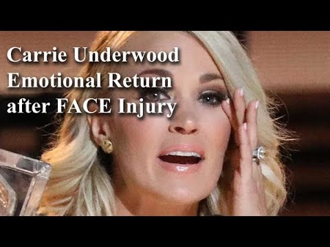 Carrie Underwood Emotional Return after Injury in ACM Awards 2018