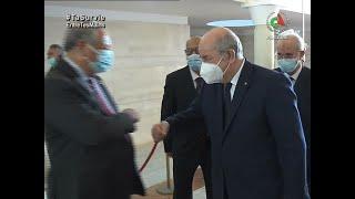 Le président de la République, #Abdelmadjid_Tebboun, en visite au centre d'opération de l'ANI.