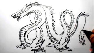 Video cara menggambar ular naga (how to draw dragon snake) MP3, 3GP, MP4, WEBM, AVI, FLV Agustus 2018