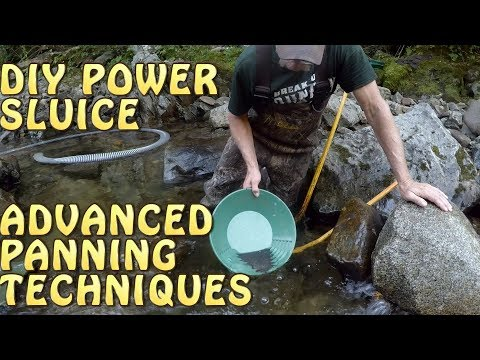 DIY Power Sluice + Advanced Panning With Black Sand + Dredging In Maine
