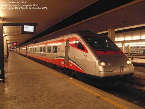Pendolino ETR485 34 sul FrecciArgento 9434 Roma - Venezia a Firenze Santa Maria Novella