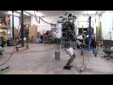 Boston Dynamics  Atlas Robot Does House Cleaning