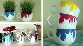 DIY Dripping Paint Mugs - YouTube