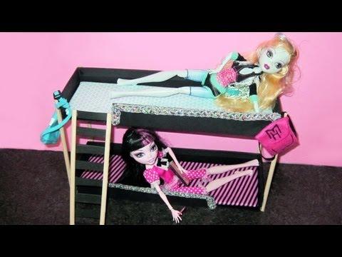 Фото как сделать кровать для куклы своими