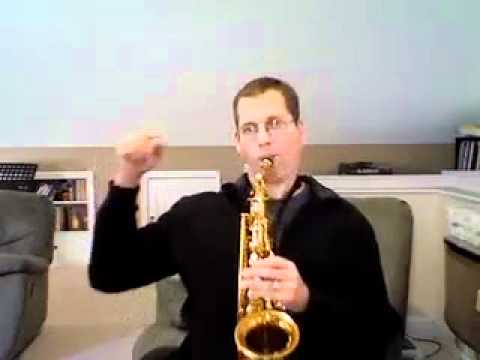 sax alto impro - www.neffmusic.com sample clip of my Beginner Jazz Improvisation Lesson 1B for alto saxophone. Visit my site to see the whole lesson.