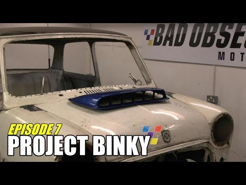 mini - In episode 7 of Project Binky, the Mini gets most of the chassis fabrication completed, the radiator gets sorted and the car gets electric windows and centra...