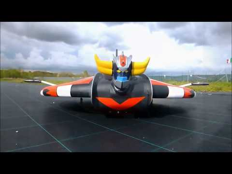 ufo robot goldrake prende il volo nei cieli di roma!