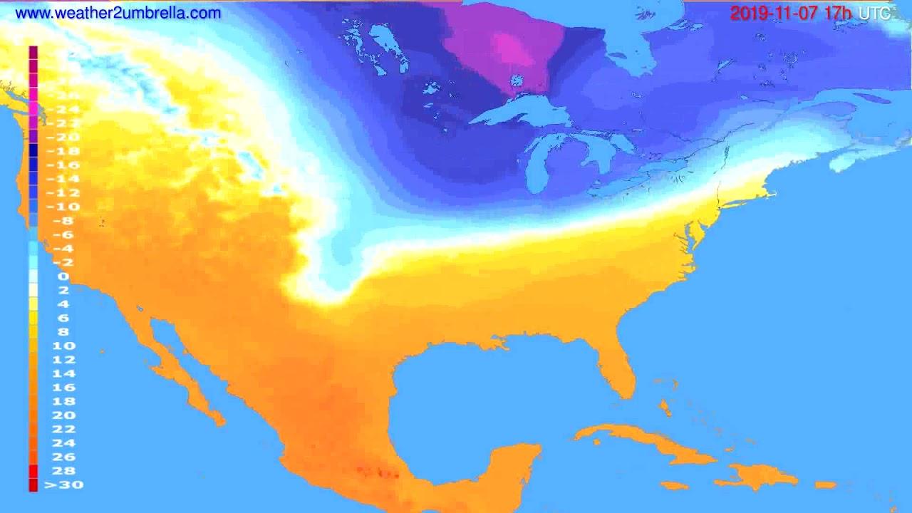 Temperature forecast USA & Canada // modelrun: 12h UTC 2019-11-05