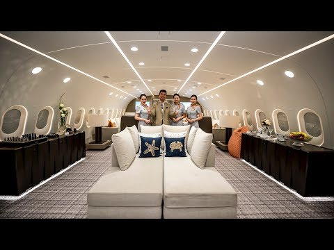 An Inside Look at the World  s Only Private Boeing 787 Dreamliner Jumbo