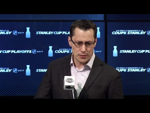 Boucher on Vigneault: We're not beer buddies, but I respect him