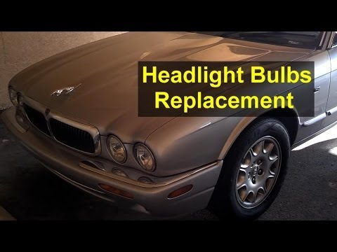 Headlight bulb replacement, Jaguar XJ8 and others cars – Auto Repair Series