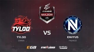 EnVyUs vs TyLoo, dust2, ELEAGUE Major Main Qualifier