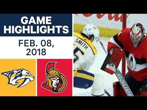 Video: NHL Game Highlights | Predators vs. Senators - Feb. 8, 2018