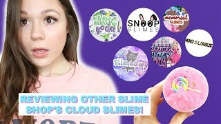 TESTING And REVIEWING Other Popular INSTAGRAM SLIME SHOP'S CLOUD CREME Slimes!