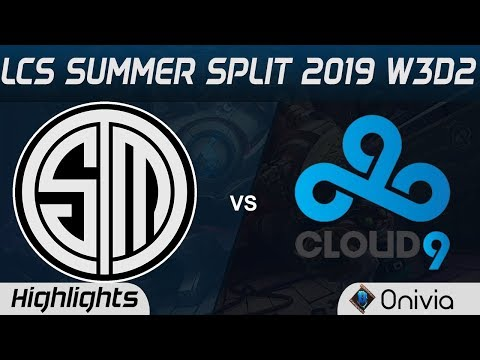 TSM Vs C9 Highlights LCS Summer 2019 W3D2 Team Solo Mid Vs Cloud9 LCS Highlights By Onivia