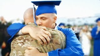 Steven Anderson, who had been deployed to Afghanistan for over 11 months, was not supposed to be home for his youngest son's graduation.  Garrett Anderson was a senior at Hillsboro High School and had already enlisted in the USMC, leaving for boot camp in just one month. He did not think his dad would be home for his graduation...