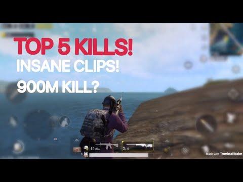 TOP 5 KILLS! | PUBG Mobile Lightspeed