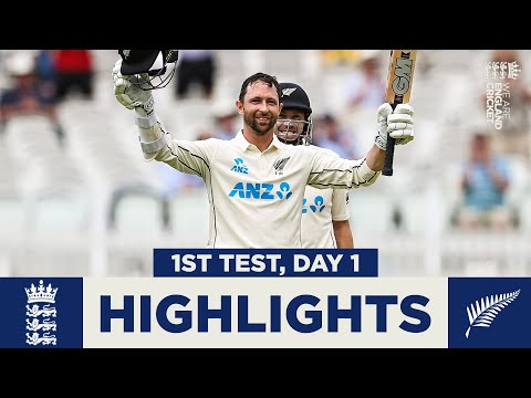 England v New Zealand - Day 1 Highlights | Conway Hits Debut Hundred! | 1st LV= Insurance Test 2021