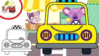 Раскрашки-анимашки. Такси