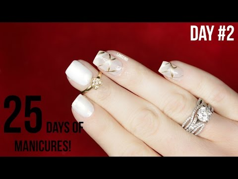 25 Days of Manicures – DIY Easy Christmas Nail Art