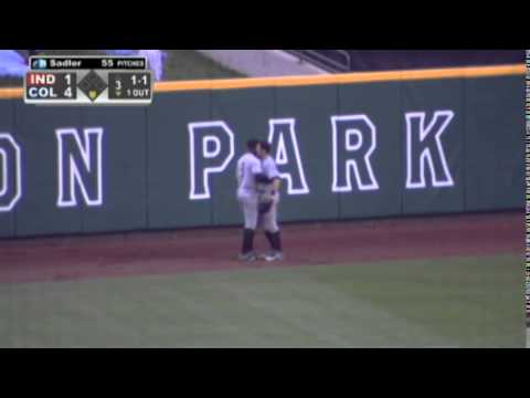 At The Warning Track: Ridiculous Jump, Snag Robs Clippers of a Home Run (28SECS)