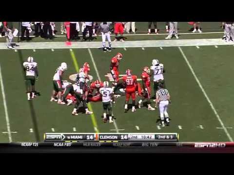 Rashard Hall vs Boston College & Miami video.