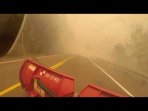 or - Here is some raw video of the why OR 224 is closed due to the 36 Pit Wildfire burning right along the highway. Even the guardrail is on fire. The wildfire is also causing trees to fall and...
