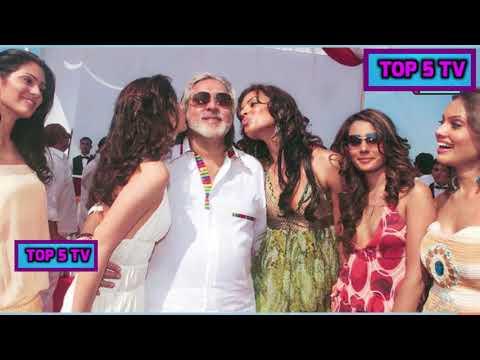 Vijay Mallya  Rmance With Bollywood Actress |Vijay Mallya Kissing Heroines