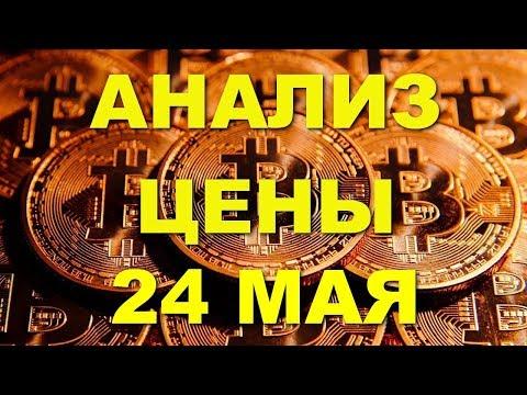 ВТС/USD — Биткойн Вiтсоin обзор цены / анализ графика цены на 24.05.2018 / 24 мая 2018 года - DomaVideo.Ru