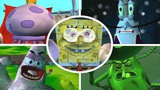 Video SpongeBob Battle for Bikini Bottom - All Bosses (No Damage) MP3, 3GP, MP4, WEBM, AVI, FLV Juli 2019