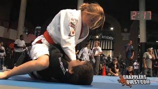 Girl vs. Boy SUBMISSION - Bianca LeBosnoyani vs Anthony Garcia Grapplers Quest Las Vegas 2011