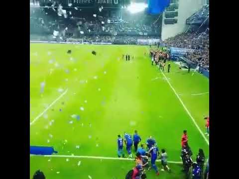 Emelec sale a la cancha final 13/12/2017 - Boca del Pozo - Emelec - Ecuador - América del Sur