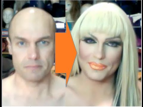 Male-to-Female Transformation #2: Drag Make-Up Tutorial (видео)