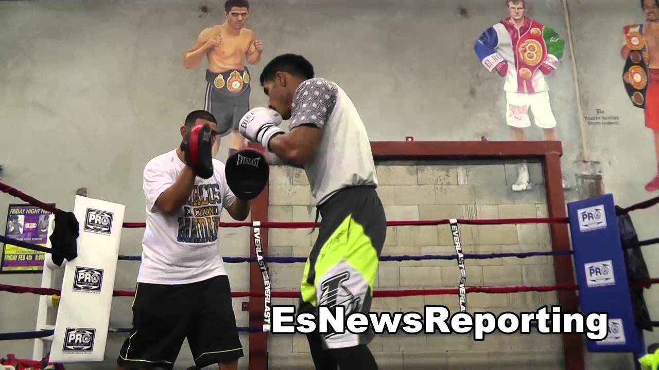 jesus cuellar working out at robert garcia boxing academy EsNews Boxing